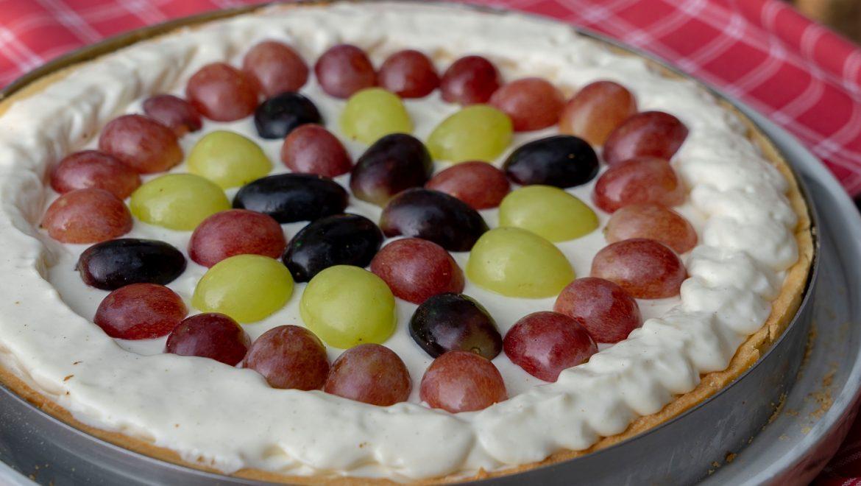 עוגת קרם מסקרפונה וענבים